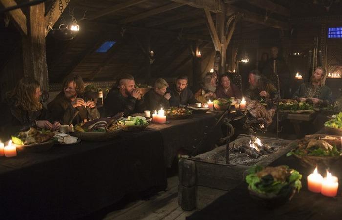 Реконструкция ужина викингов.